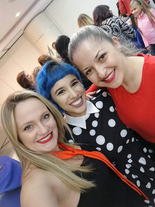 Foto com Yanna, Shannon e Tânia no Campus Unhas Aretini 2018