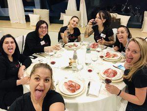 Jantar no hotel no Campus de Unhas Aretini 2018