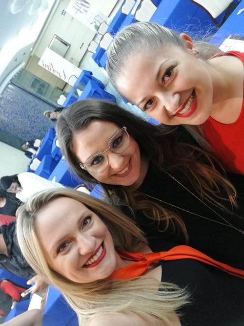 Foto com a Valentina no Campus Unhas Aretini 2018