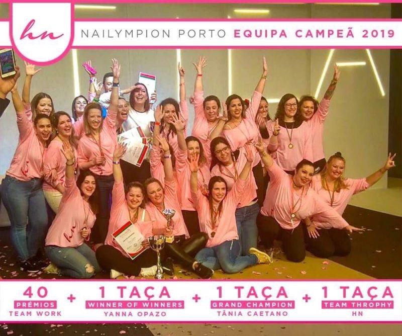 Equipa Campeã na Nailympion Porto 2019