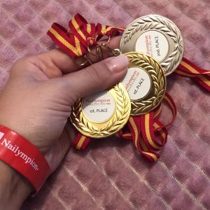 As minhas medalhas na Nailympion Madrid 2019